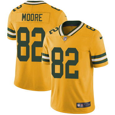 Nike Packers #82 J'Mon Moore Yellow Men's Stitched NFL Limited Rush Jersey