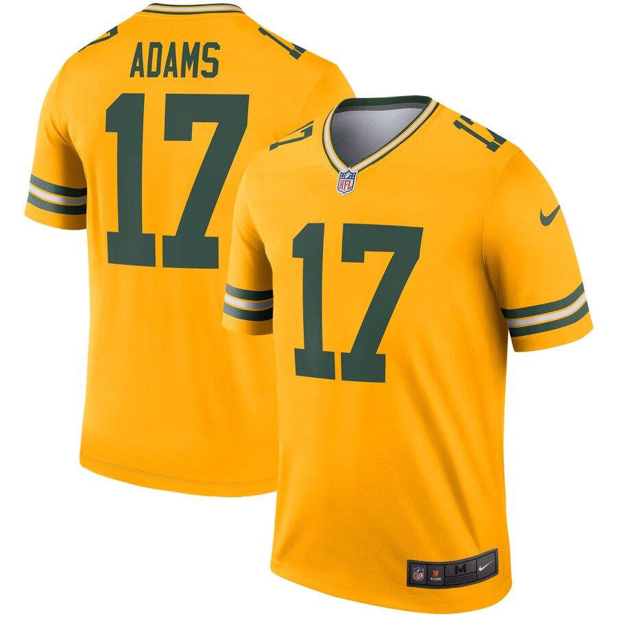 Nike Packers 17 Davante Adams Gold Inverted Legend Jersey