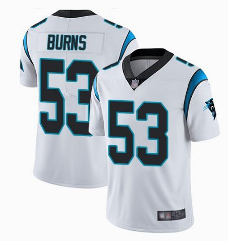 Nike Panthers 53 Brian Burns White Vapor Untouchable Limited Jersey