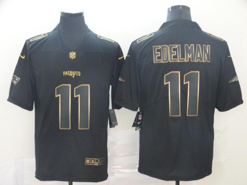 Nike Patriots 11 Julian Edelman Black Gold Vapor Untouchable Limited Jersey