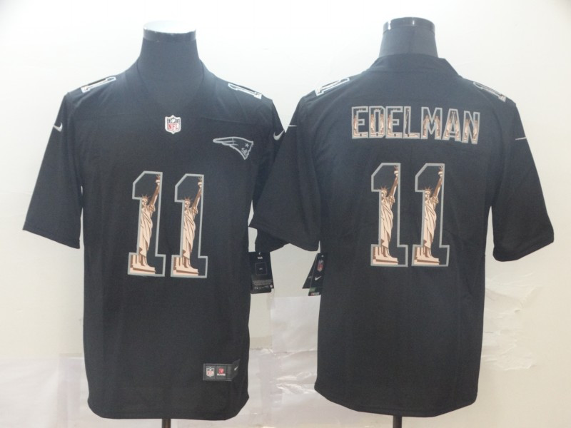 Nike Patriots 11 Julian Edelman Black Statue Of Liberty Limited Jersey