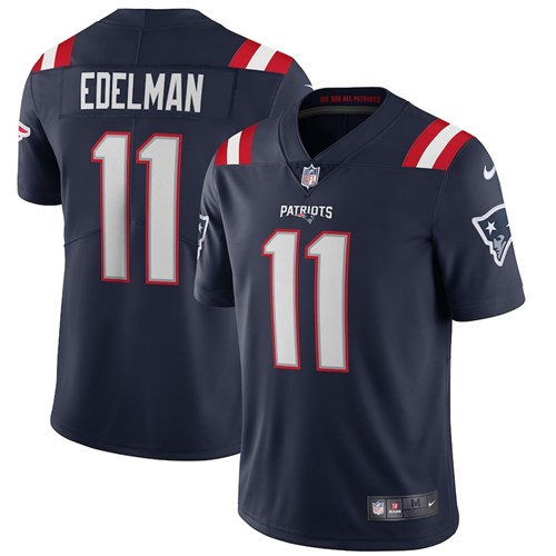 Nike Patriots 11 Julian Edelman Navy 2020 New Vapor Untouchable Limited Jersey