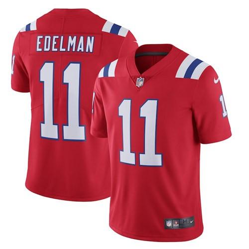 Nike Patriots 11 Julian Edelman Red 2020 New Vapor Untouchable Limited Jersey