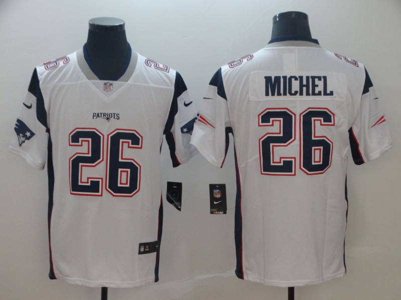 Nike Patriots 26 Sony Michel White Vapor Untouchable Limited Jersey