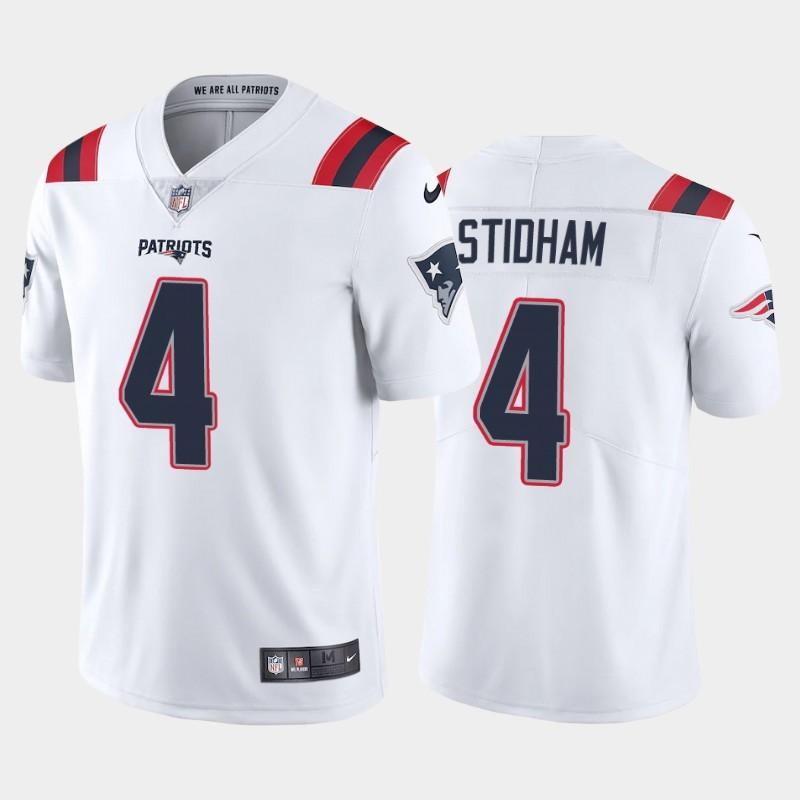 Nike Patriots 4 Jarrett Stidham White 2020 New Vapor Untouchable Limited Jersey