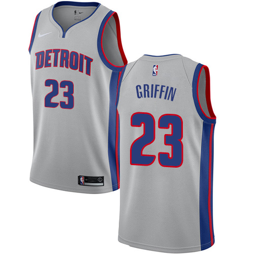Nike Pistons #23 Blake Griffin Silver NBA Swingman Statement Edition Jersey