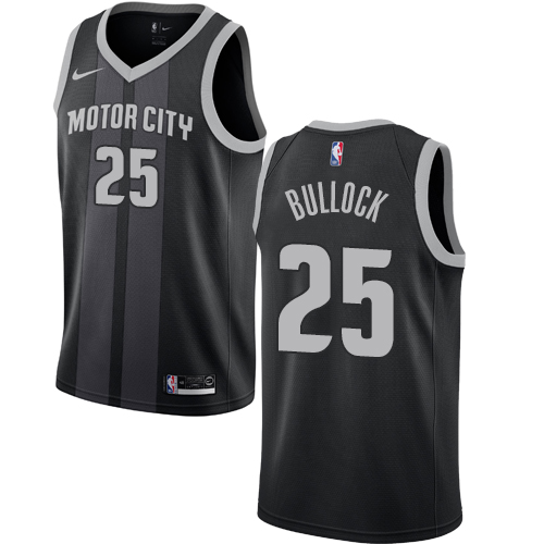 Nike Pistons #25 Reggie Bullock Black NBA Swingman City Edition 2018 19 Jersey