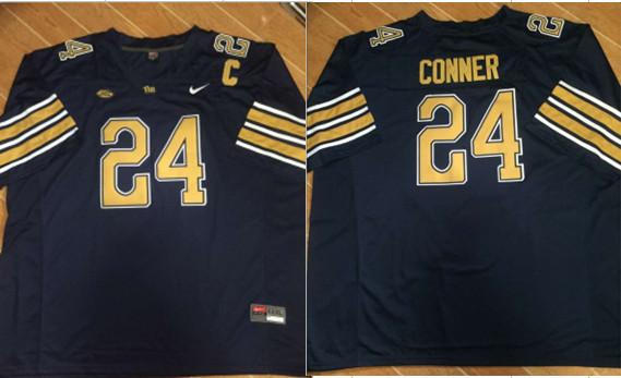 Nike Pitt Panthers #24 James Conner Football Navy Jersey
