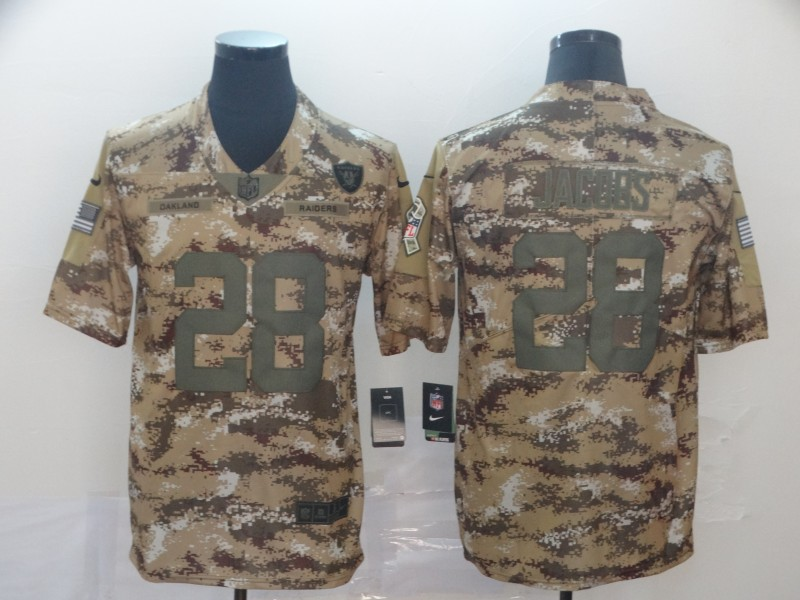 Nike Raiders 28 Josh Jacobs 2018 Camo Salute To Service Limited Jersey