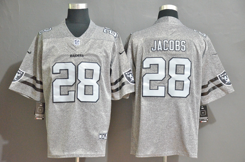Nike Raiders 28 Josh Jacobs 2019 Gray Gridiron Gray Vapor Untouchable Limited Jersey