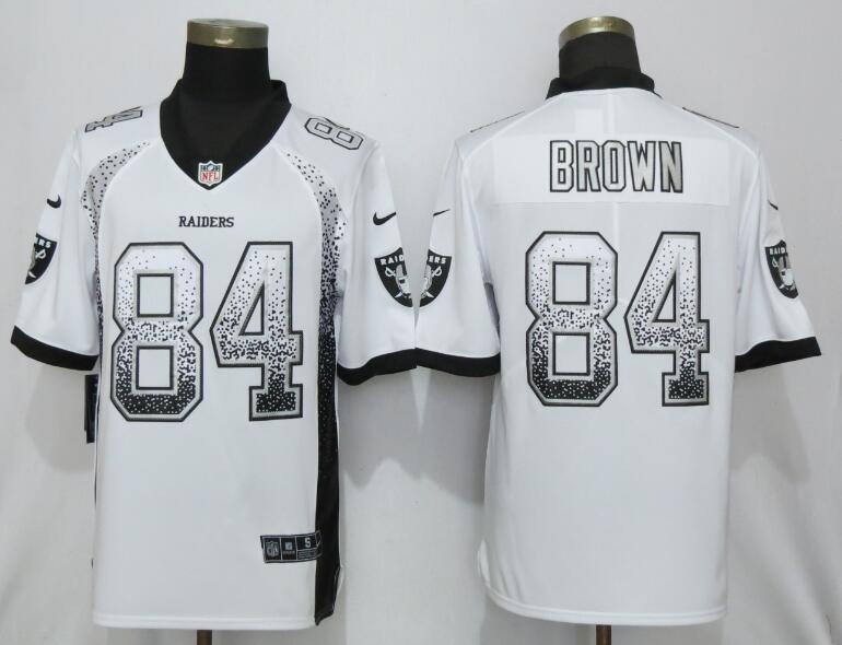 Nike Raiders 84 Antonio Brown White Drift Fashion Limited Jersey