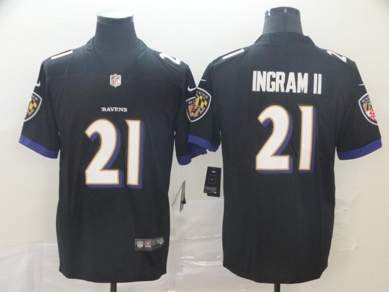 Nike Ravens 21 Mark Ingram II Black Alternate Vapor Untouchable Limited Jersey