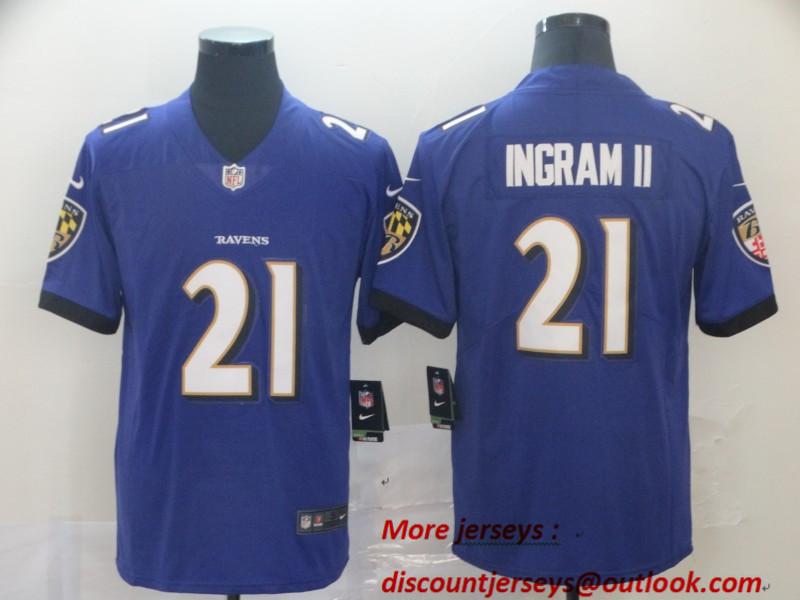 Nike Ravens 21 Mark Ingram II Purple Vapor Untouchable Limited Jersey