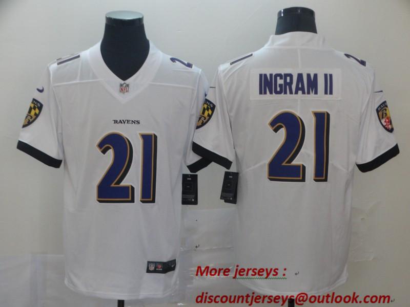 Nike Ravens 21 Mark Ingram II White Vapor Untouchable Limited Jersey