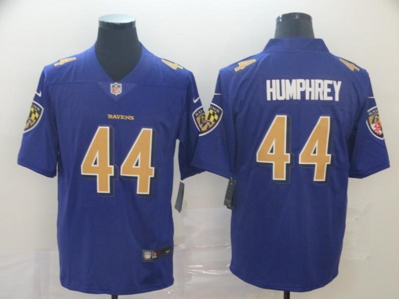 Nike Ravens 44 Marlon Humphre Purple Color Rush Limited Jersey