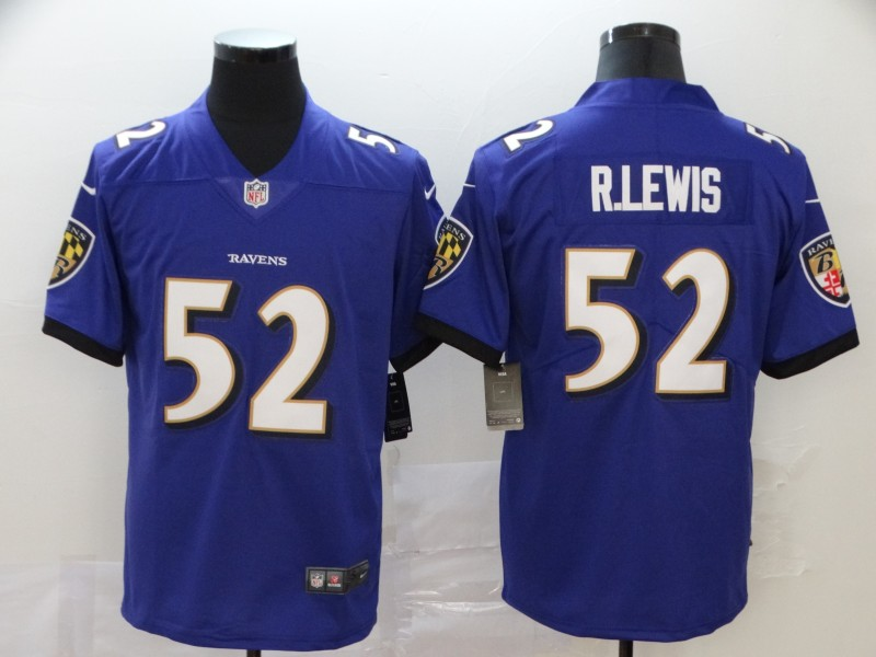 Nike Ravens 52 Ray Lewis Purple Vapor Untouchable Limited Jersey