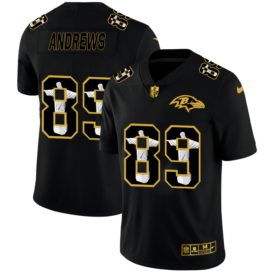Nike Ravens 89 Mark Andrews Black Jesus Faith Edition Limited Jersey