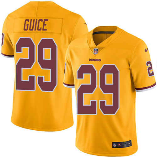 Nike Redskins #29 Derrius Guice Gold Youth Stitched NFL Limited Rush Jersey