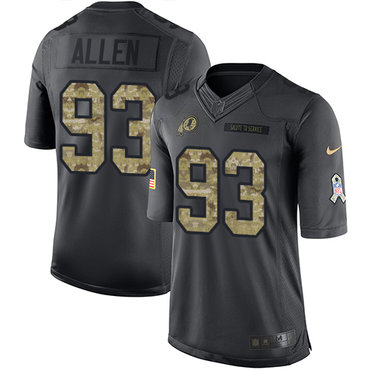 Nike Redskins #93 Jonathan Allen Black Youth Stitched NFL Limited 2016 Salute to Service Jersey
