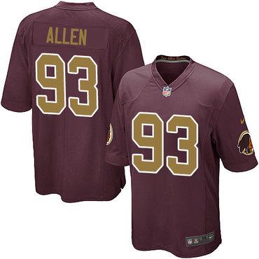 Nike Redskins #93 Jonathan Allen Burgundy Red Alternate Youth Stitched NFL Elite Jersey