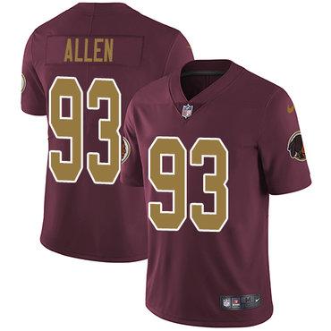 Nike Redskins #93 Jonathan Allen Burgundy Red Alternate Youth Stitched NFL Vapor Untouchable Limited Jersey