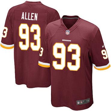 Nike Redskins #93 Jonathan Allen Burgundy Red Team Color Youth Stitched NFL Elite Jersey