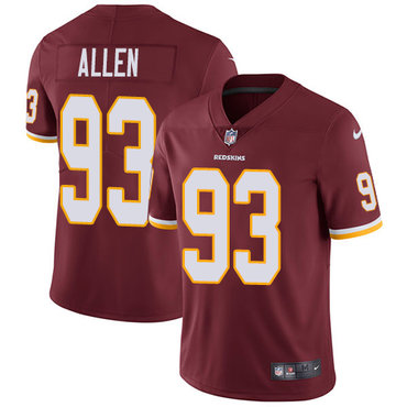 Nike Redskins #93 Jonathan Allen Burgundy Red Team Color Youth Stitched NFL Vapor Untouchable Limited Jersey