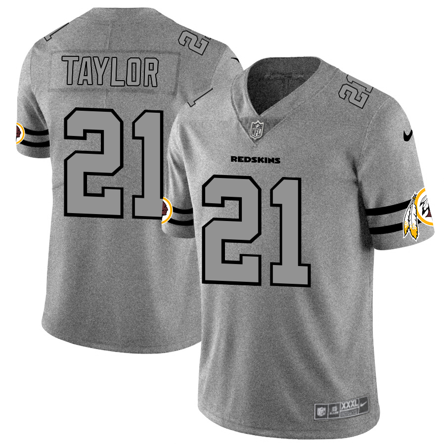 Nike Redskins 21 Sean Taylor 2019 Gray Gridiron Gray Vapor Untouchable Limited Jersey