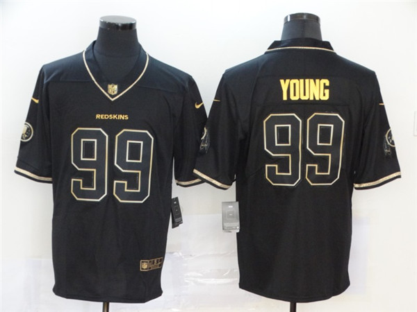 Nike Redskins 99 Chase Young Black Gold Vapor Untouchable Limited Jersey