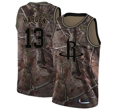 Nike Rockets #13 James Harden Camo Women's NBA Swingman Realtree Collection Jersey