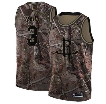 Nike Rockets #3 Chris Paul Camo Women's NBA Swingman Realtree Collection Jersey