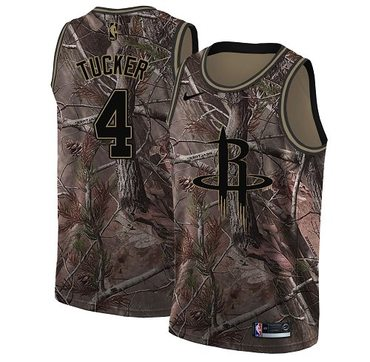 Nike Rockets #4 PJ Tucker Camo Women's NBA Swingman Realtree Collection Jersey