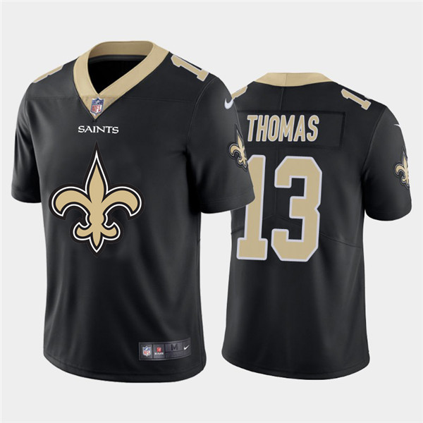 Nike Saints 13 Michael Thomas Black Team Big Logo Vapor Untouchable Limited Jersey