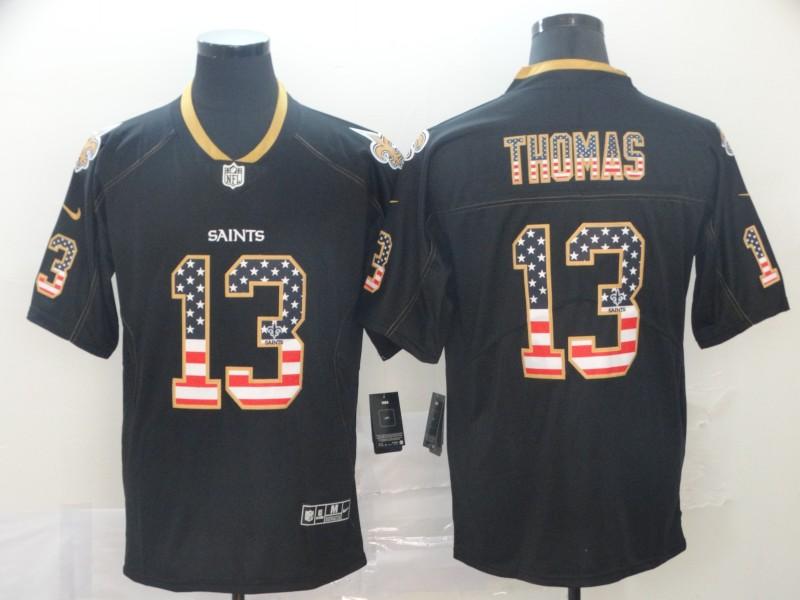 Nike Saints 13 Michael Thomas Black USA Flash Fashion Limited Jersey