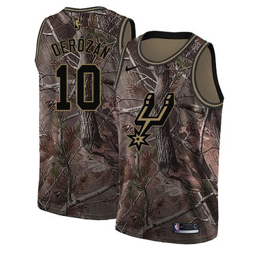 Nike Spurs #10 DeMar DeRozan Camo Youth NBA Swingman Realtree Collection Jersey
