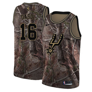 Nike Spurs #16 Pau Gasol Camo Youth NBA Swingman Realtree Collection Jersey