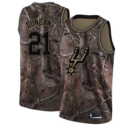 Nike Spurs #21 Tim Duncan Camo Youth NBA Swingman Realtree Collection Jersey