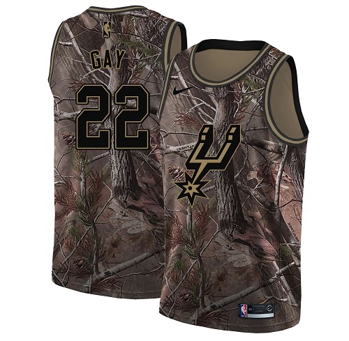 Nike Spurs #22 Rudy Gay Camo Youth NBA Swingman Realtree Collection Jersey