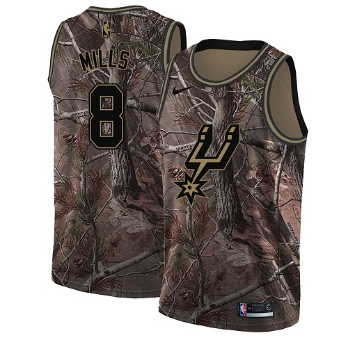 Nike Spurs #8 Patty Mills Camo Women's NBA Swingman Realtree Collection Jersey