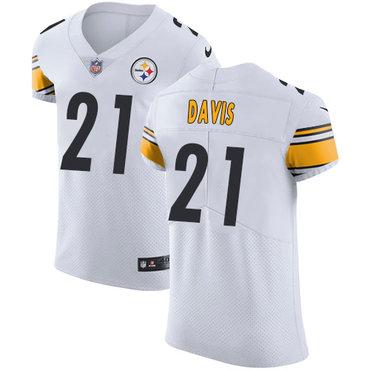 Nike Steelers #21 Sean Davis White Men's Stitched NFL Vapor Untouchable Elite Jersey