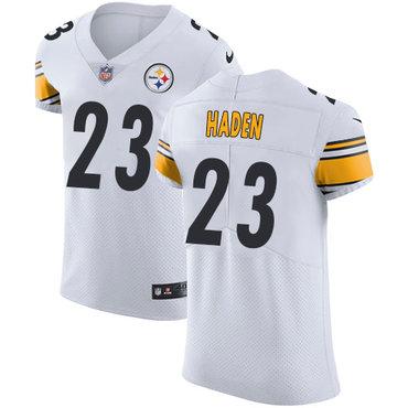 Nike Steelers #23 Joe Haden White Men's Stitched NFL Vapor Untouchable Elite Jersey