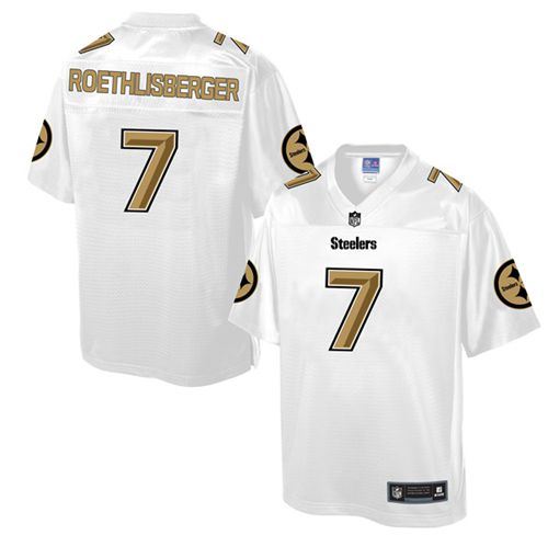 best service faf17 45e46 Nike Steelers #7 Ben Roethlisberger White Men's NFL Pro Line ...