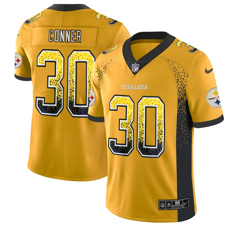 Nike Steelers 30 James Conner Gold Drift Fashion Limited Jersey