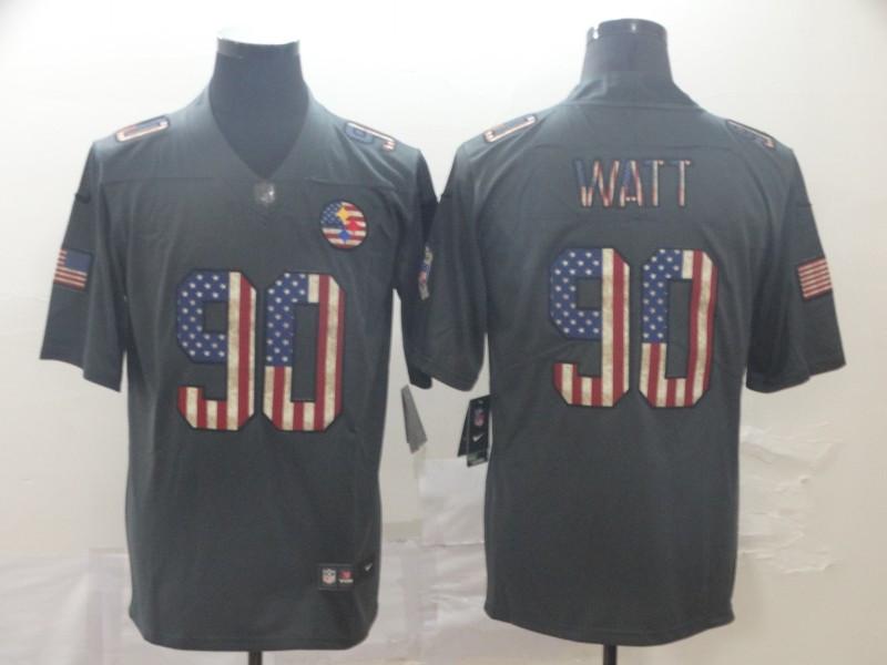 Nike Steelers 90 T.J. Watt 2019 Salute To Service USA Flag Fashion Limited Jersey
