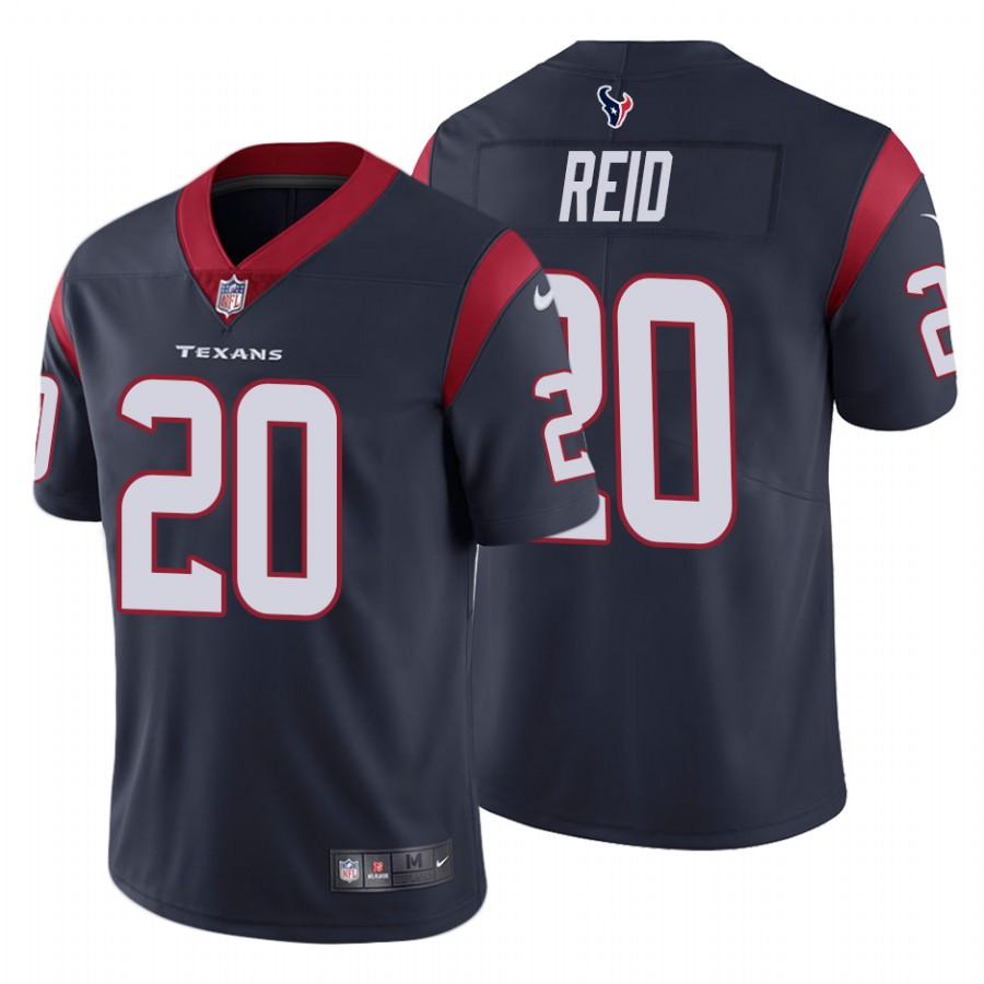 Nike Texans 20 Justin Reid Navy Vapor Untouchable Limited Jersey