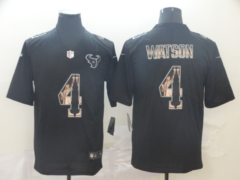 Nike Texans 4 Deshaun Watson Black Statue Of Liberty Limited Jersey