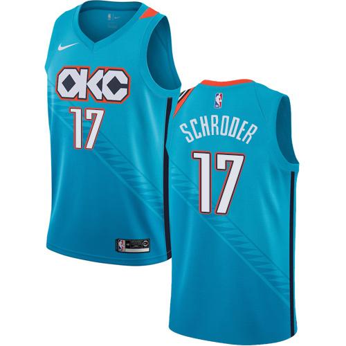 Nike Thunder #17 Dennis Schroder Turquoise NBA Swingman City Edition 2018 19 Jersey