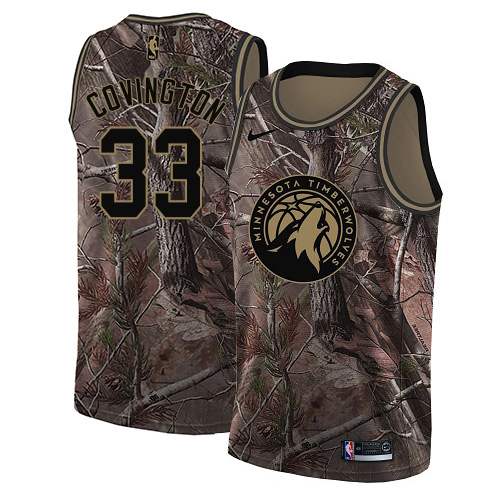 Nike Timberwolves #33 Robert Covington Camo NBA Swingman Realtree Collection Jersey
