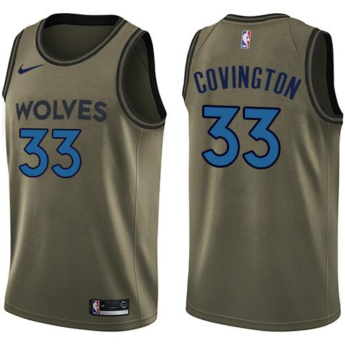 Nike Timberwolves #33 Robert Covington Green NBA Swingman Salute to Service Jersey