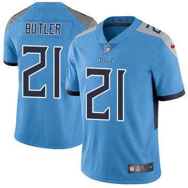 Nike Titans #21 Malcolm Butler Light Blue Team Color Men's Stitched NFL Vapor Untouchable Limited Jersey